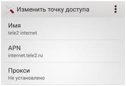 Сообщение конфигурации пин код Теле2